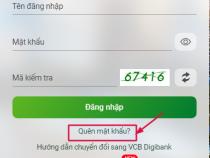 Quên mật khẩu VCB Digibank, bị khóa. Cách lấy lại và mở khóa tài khoản