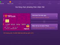 Cách mở thẻ ATM Tpbank Livebank 24/7 không cần ra quầy giao dịch