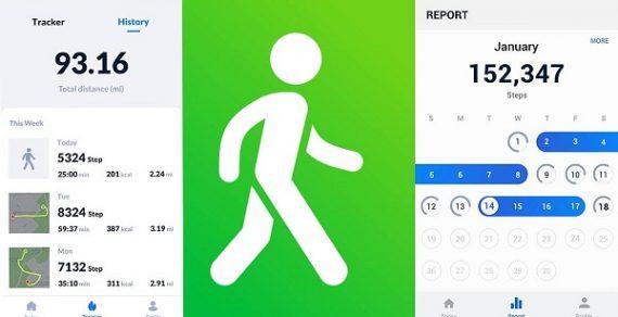Top 13 app tính quãng đường đi bộ, đếm bước đi, đo km miễn phí ios & android 2021